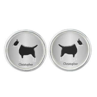 Personalized Bull Terrier Dog Design Cuff Links