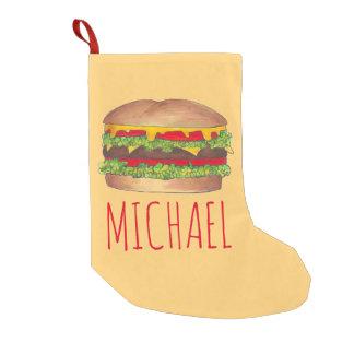 Personalized Burger Hamburger Christmas Stocking