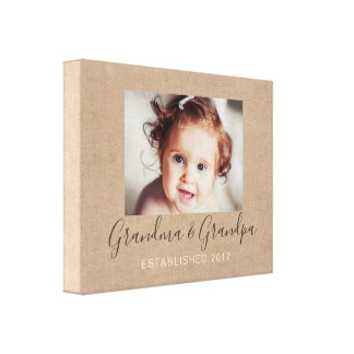 Personalized Burlap Photo Canvas