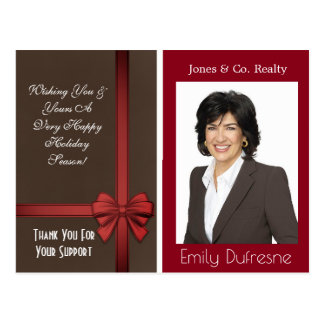 Personalized Business Holiday Greetings Postcard