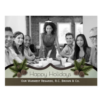 Personalized Business Holiday Greetings w/Photo Postcard