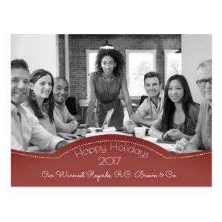 Personalized Business Holiday w/Photo Postcard
