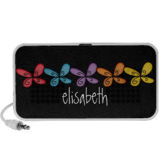 Personalized Butterflies Portable Doodle Speakers