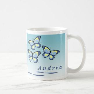 Personalized Butterfly Mugs