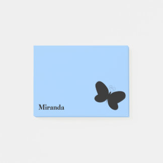 Personalized Butterfly on Baby Blue Post It Note