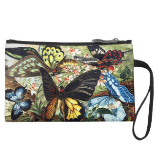 Personalized Butterfly Print  Wristlet
