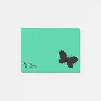 Personalized Butterfly Seafoam Green Post It Note
