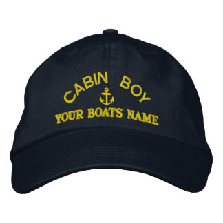 Personalized cabin boy  yacht crew embroidered hat
