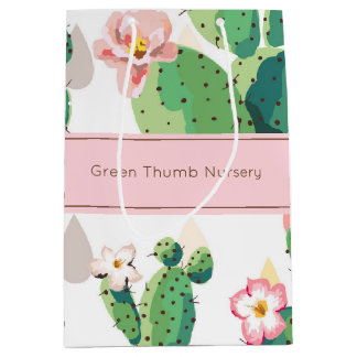 Personalized Cactus Print Marketing Gift Bag