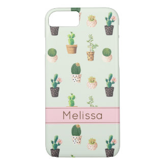 Personalized Cactus Print Phone Case