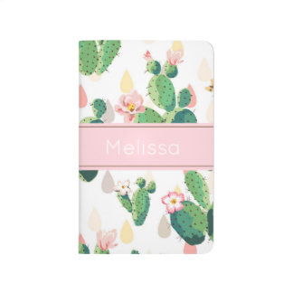 Personalized Cactus Print Pocket Journal