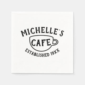 Personalized Cafe Paper Napkins