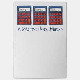 Personalized Calculator Math Teacher Post Its Post-it® Notes