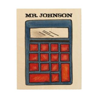 Personalized Calculator Math Teacher School Gift Wood Wall Art