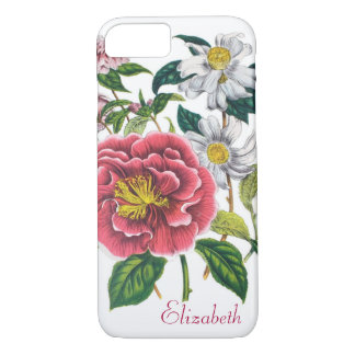 Personalized Camellias iPhone 7 Case
