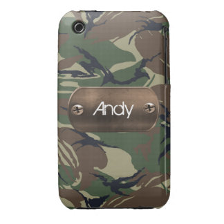 personalized camo army green iPhone 3 cover
