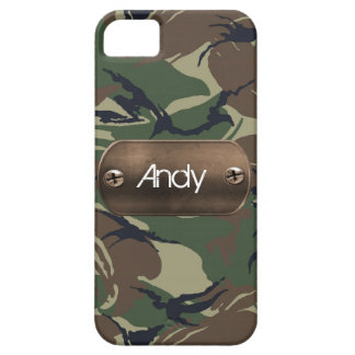 personalized camo army green iPhone 5 case