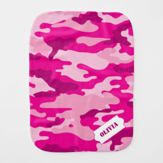 Personalized Camo burp cloth, pink camouflage Burp Cloth