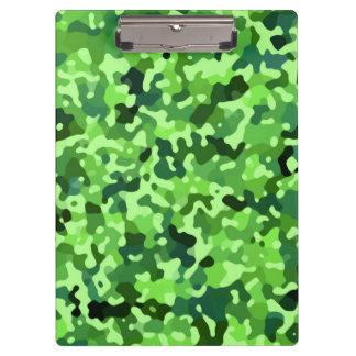 Personalized Camo Pattern - Green Blue Black Clipboard