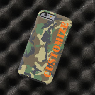Personalized Camouflage Print Tough iPhone 6 Case