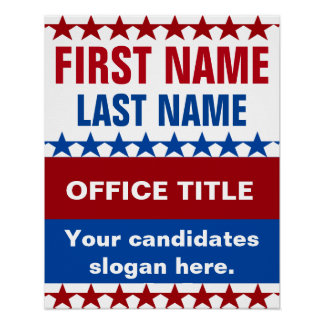 Personalized Campaign Template Poster