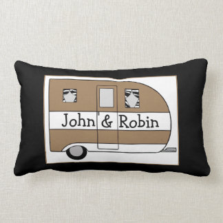 Personalized Camper Throw Pillow