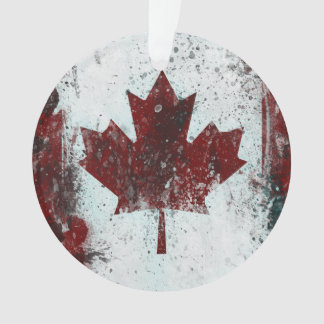 Personalized Canada Maple Leaf Ornament