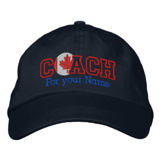 Personalized Canadian Coach with your name Baseball Cap