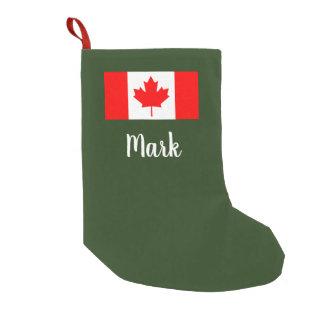 Personalized Canadian flag Christmas stocking