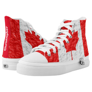 Personalized Canadian Flag High Tops