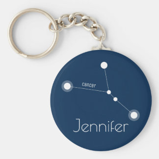 Personalized Cancer Zodiac Constellation Key Ring