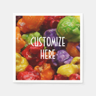Personalized Candied Popcorn Paper Napkin