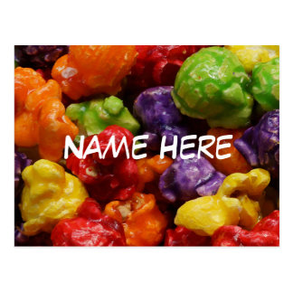 Personalized Candied Popcorn Postcard