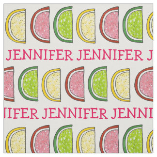 Personalized Candy Fruit Slice Slices Fabric