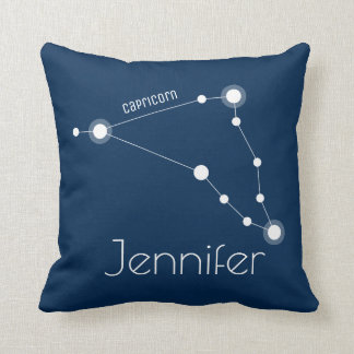 Personalized Capricorn Zodiac Constellation Cushion