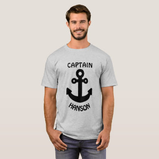 Personalized Captain Black Anchor T-Shirt