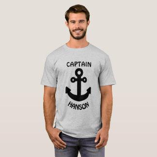 Personalized Captain Black Anchor T-Shirt