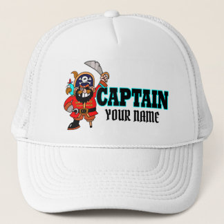 Personalized Captain Pirate Boat Hat