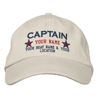 Personalized Captain Stars Ball Cap Embroidery Embroidered Baseball Cap