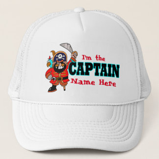 Personalized Captains Pirate Boat Hat