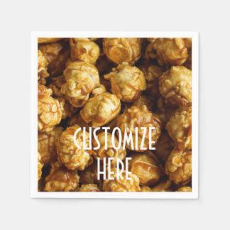 Personalized Caramel Popcorn Paper Napkin