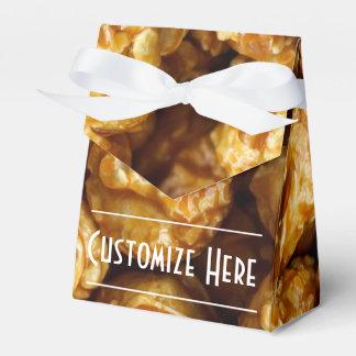 Personalized Caramel Popcorn Tent Favor Box