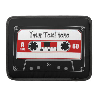 Personalized Cassette Tape Sleeve For MacBooks