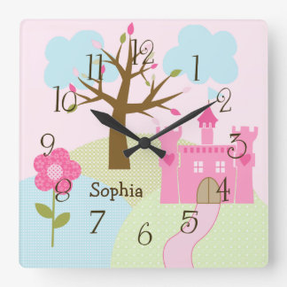 Personalized Castle/Dreams Come True Nursery Clock
