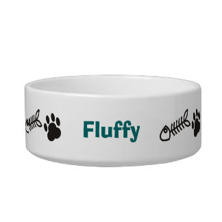 Personalized Cat Pet Bowl