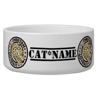 Personalized Cat Pet Food Bowl