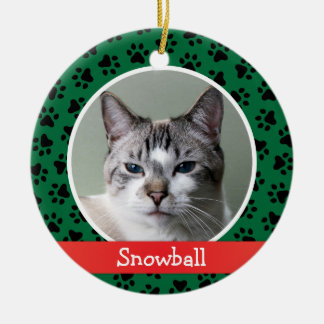 Personalized Cat Pet Photo Ornament