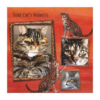 Personalized Cat Photo Wrapped Canvas