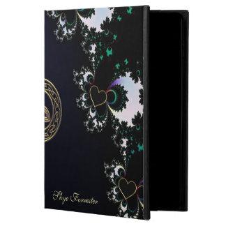 Personalized Celtic Black Heart Fractal iPad Case