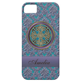 Personalized Celtic Knot Damask iPhone 5 Case
